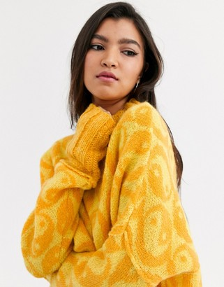 Free People Yin Yang oversized jumper-Yellow
