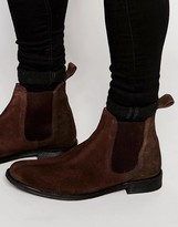 Lambretta Chelsea Boots In Brown Suede