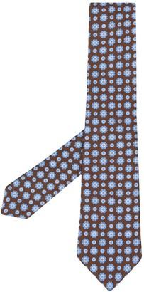 Kiton Floral-Print Tie