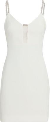 David Koma Crystal Strap Mini Dress