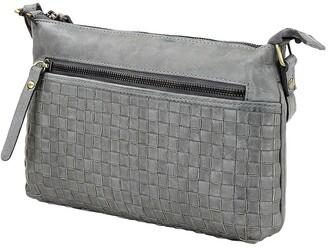 Prairie PRM208 Weave Zip Top Crossbody Bag