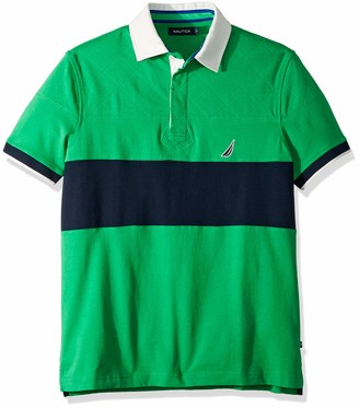 Nautica Men's Short Sleeve Colorblock Classic Fit Polo Shirt