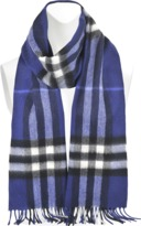 Burberry Giant Icon Check Cashmere Scarf 168x30cm