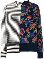 MSGM mixed print jumper - women - Cotton/Polyamide/Viscose - XS