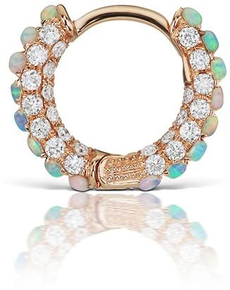 Maria Tash Opal And Diamond Single Hoop Earring - Rose Gold