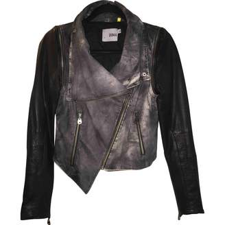 Doma Black Leather Leather Jacket for Women