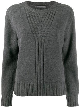 Alberta Ferretti ribbed knit detail sweater