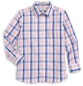 Nordstrom Boy's Plaid Cotton Poplin Dress Shirt