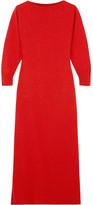 Isabel Marant Cara Wool, Yak And Cotton-blend Midi Dress - Red