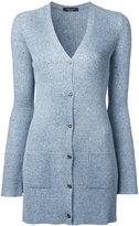 Roberto Collina ribbed fitted cardigan - women - Linen/Flax/Nylon/Viscose - M