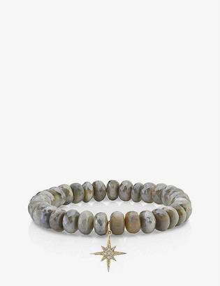 THE ALKEMISTRY Sydney Evan 14ct yellow-gold, diamond and moonstone bracelet