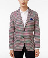 Ben Sherman Men's Slim-Fit Red and Navy Check Sport Coat