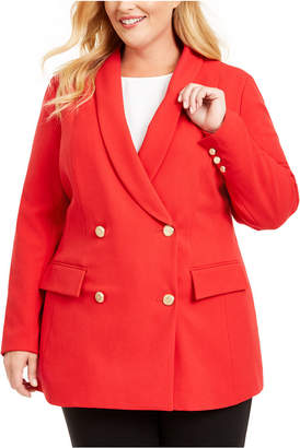 INC International Concepts Inc Plus Size Double-Breasted Blazer