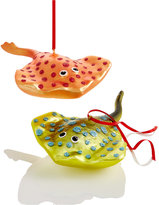 Holiday Lane Set Of 2 Glass Stingray Ornaments, Created for Macy's