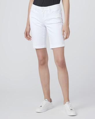 Paige Jax Knee Short-Crisp White
