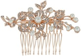 Nina Ladee Crystal Pearl Floral Comb Hair Accessories