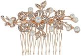 Nina Lagos Crystal Pearl Floral Comb