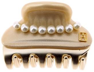 Alexandre de Paris Vendome Clip Pearls Golden 4.5Cm