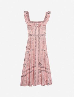 Sandro Gale linen and cotton-blend midi dress