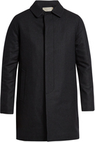 MAISON KITSUNÉ Checked wool-blend coat