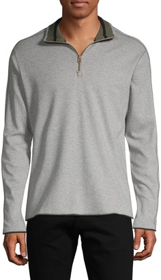 Robert Graham Elliot Cotton Quarter-Zip Sweater