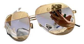 Christian Dior Split Gold Metal Sunglasses