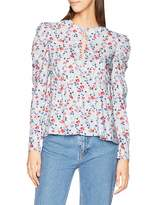 Lost Ink Women's Blouse in Floral Print Multicolour (Multi 0088) (Size:12/M)