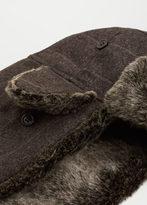 MANGO MAN Faux Fur Aviator Hat