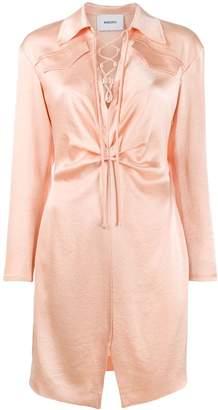 Nanushka Lace front mini dress