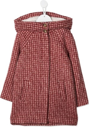 Chloé Kids Checked Wool Coat