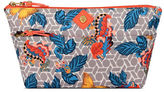 Anne Klein Butterfly Floral Print Cosmetic Carryall