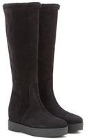 Salvatore Ferragamo Falco shearling-lined suede boots