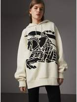 Burberry Equestrian Knight Device Cotton Hooded Sweatshirt