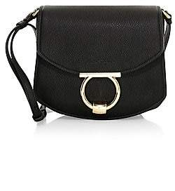 Salvatore Ferragamo Women's Small Margot Gancini Leather Saddle Bag