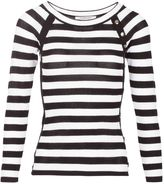 Morgan Buttons Ornamented Striped Jumper