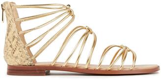 Sam Edelman Emi Metallic And Snake-effect Leather Sandals