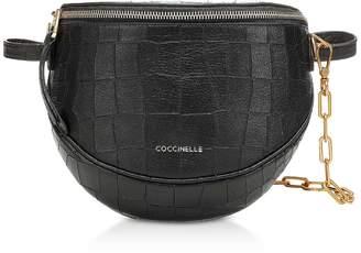 Coccinelle Blackie Croco Soft Convertible Shoulder/Belt Bag