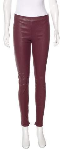 Vince Leather Mid-Rise Leggings w/ Tags