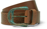 Maison Margiela - 4cm Brown Layered Grained-leather Belt