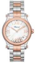 Chopard Happy Sport Diamond, 18K Rose Gold & Stainless Steel Bracelet Watch