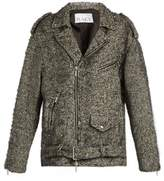 Raey Oversized herringbone biker jacket