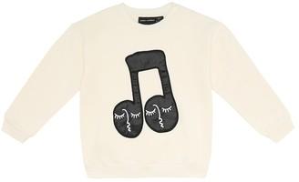 Mini Rodini Note cotton-jersey sweatshirt