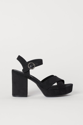 H&M Platform Sandals - Black