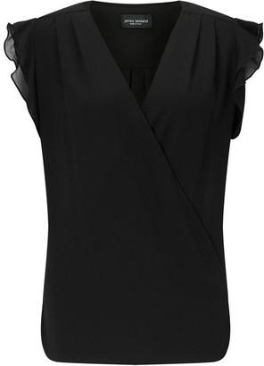 James Lakeland Crossover Ruffle Shirt