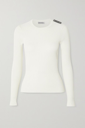 Balenciaga Ribbed-knit Sweater - Off-white