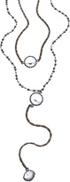 Serefina Silver Crystal and Pyrite Vintage Deco Channels Necklace