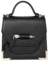 Mackage Rubie Structured Leather Shoulder Bag In Black / Gold