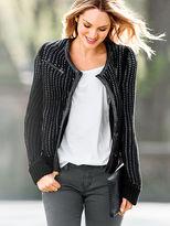 Victoria's Secret Faux Leather-trim Moto Jacket