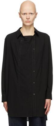 Y's Ys Black Drape O-Front Shirt