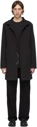 49Winters Black One Layer Mac Coat